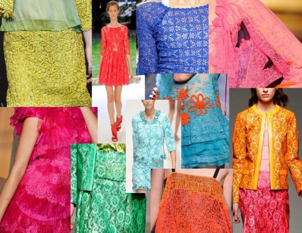 Erdem, Christopher Kane, Nina Ricci, Isabel Marant, Proenza Schouler colored lace Spring 2011