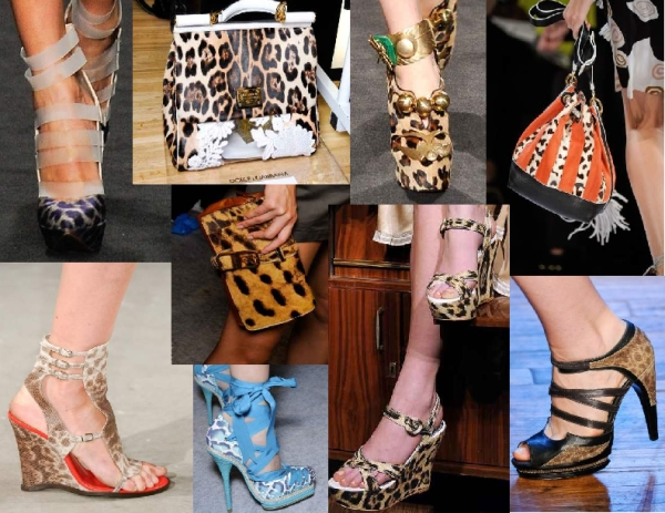 Leopard accessories for Spring 2011 from Francesco Scognamigli, Altuzarra, Dolce & Gabbana, Dior, Chloe, Alice + Olivia, Gaetano Navarra, DVF and Jason Wu
