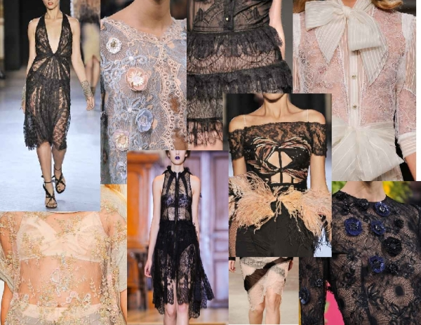 Spring 2011 Lingerie lace by Ungaro, Zac Posen, Antonio Marras, Francesco Scognamiglio, Nina Ricci, harryhalim and Colette Dinnigan