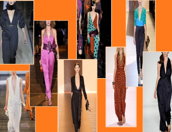 Jumpsuits seen on the Spring 2011 runways of YSL, Alexander Wang, Marc Jacobs, Gucci, Louis Vuitton, Milly by Michelle Smith and Alexander Berardi