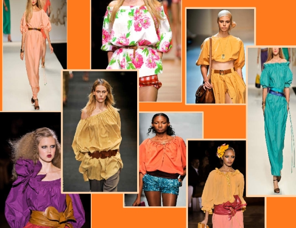 Peasant blouses seen on the Spring 2011 runways of Barbara Bui, Maurizio Pecoraro, Salvatore Ferragamo, Marc Jacobs, Tao Comme des Garcons, Frendi and D&G