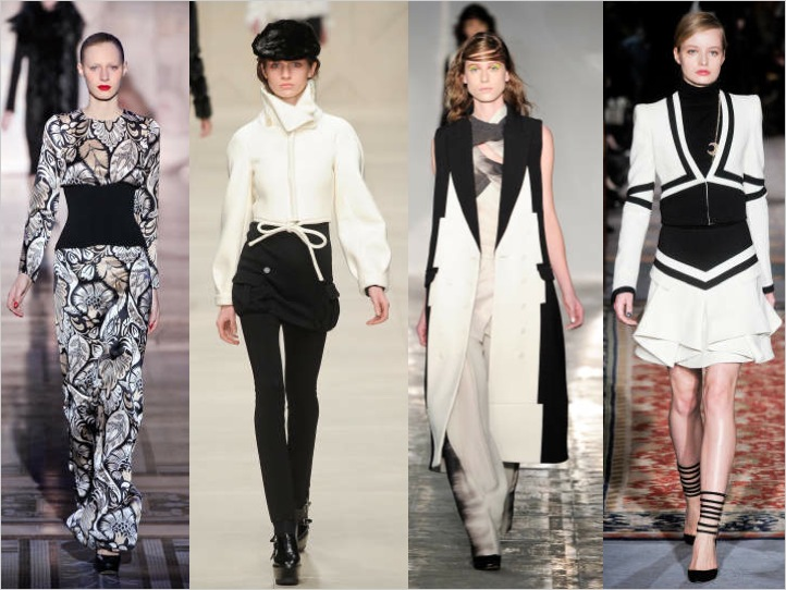 LONDON SETS A TREND:  BLACK & WHITE FOR FALL 2011