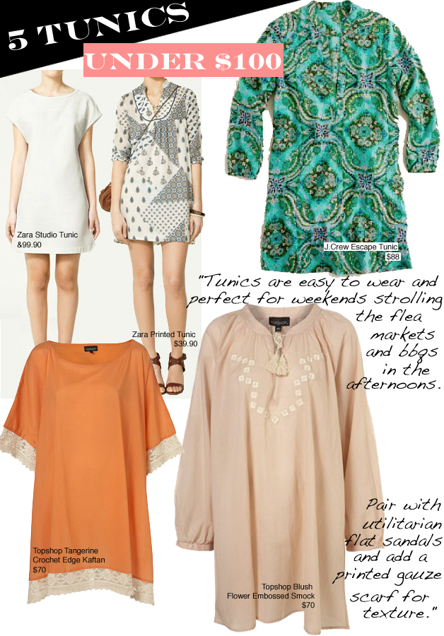 5 SPRING TUNICS FOR UNDER $100