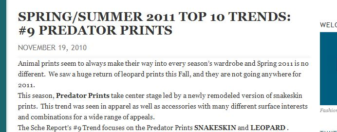 WE SAW IT FIRST! TREND VALIDATION: SUMMER SNAKESKINS