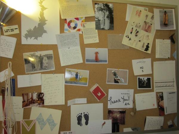 Studio inspiration board