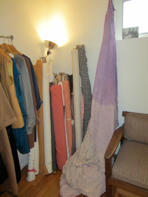 Fabrics are sourced locally and hand dyed.
