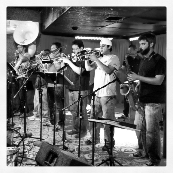 The White Horse Saloon.  Sunday night must stop to see The Urban Achievers Brass Band.