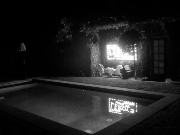 A view of the outside scene