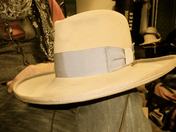 The very first hat Gregory made with legendary hat maker Kevin O'Farrell from Durango, Colorado