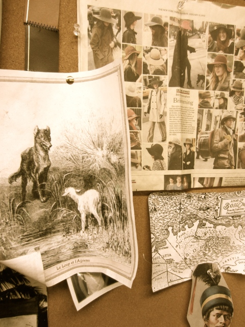 Images from their inspiration board