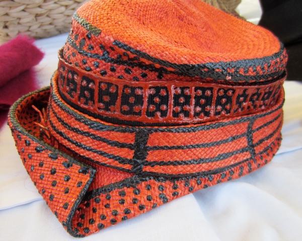 Very unique vintage straw hat.