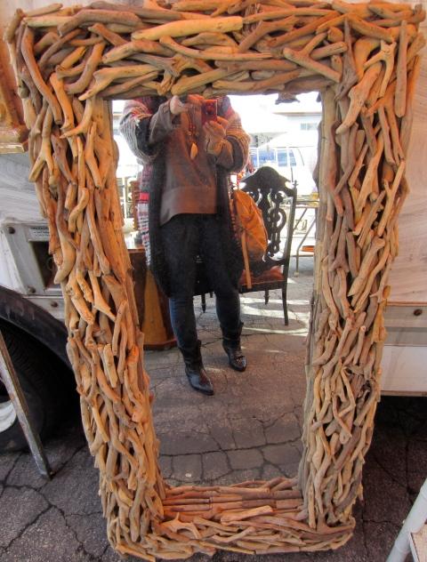 Driftwood floor mirror was pretty fantastic.