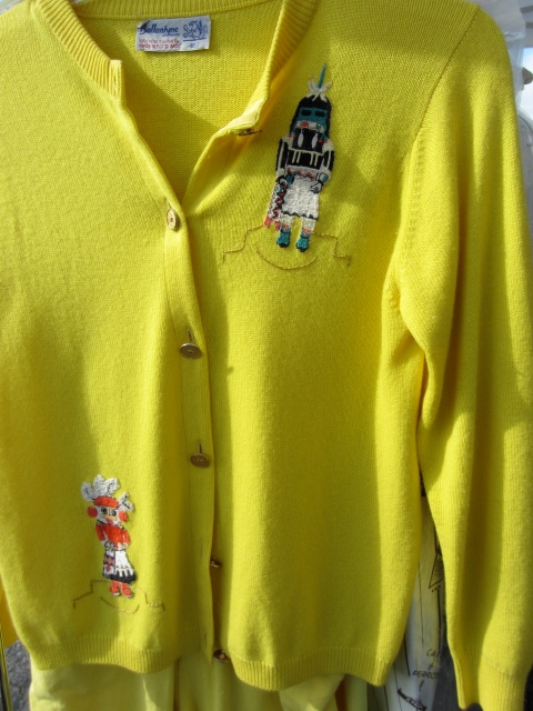 The color of this vintage Ballyntine cashmere sweater was perfect and the Totem embroidery was really unique.
