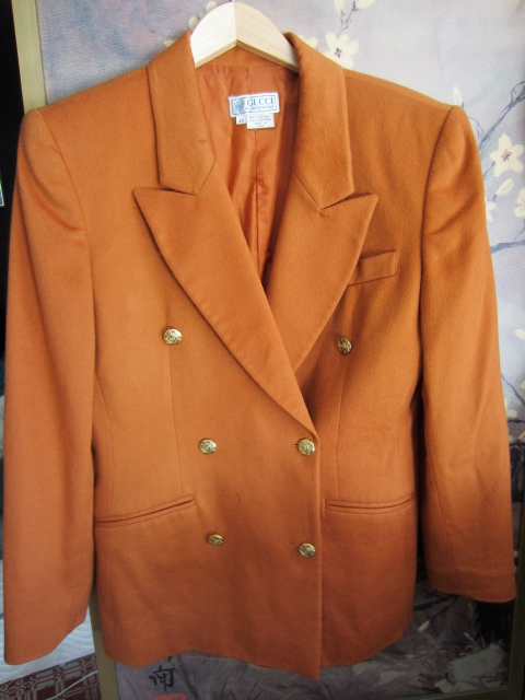 So happy about this cashmere vintage Gucci blazer! Especially after seeing all of those menswear outfits at couture.  But seriously, this color is crazy good.