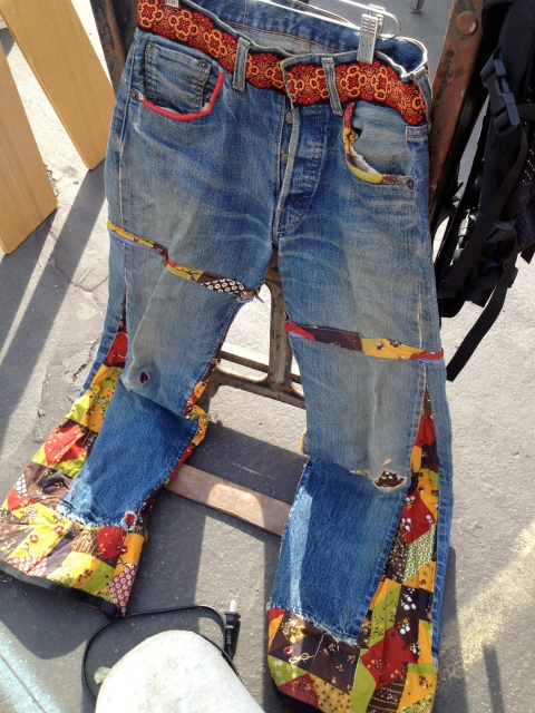 Some classic vintage patchwork bell bottom Levi's