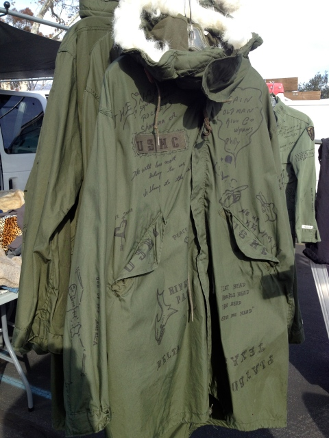 Really LOVED this army jacket with handwriting all over it.  So smart, so unique, so Japanese!