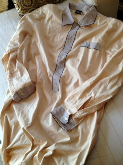 Fell in love with the French vintage night shirts and found this treasure in a bin.  It's a nightgown, but Im going to wear it as a dress belted with tall brown boots.