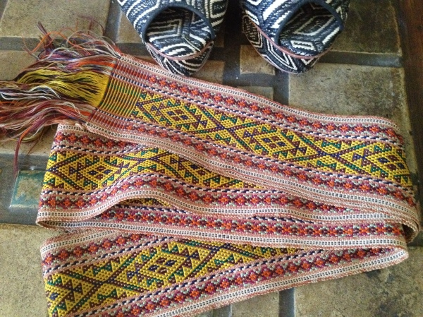 A great vintage ethnic wrap belt.  Loved the colors and the price!