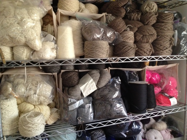 Her warehouse of natural yarns