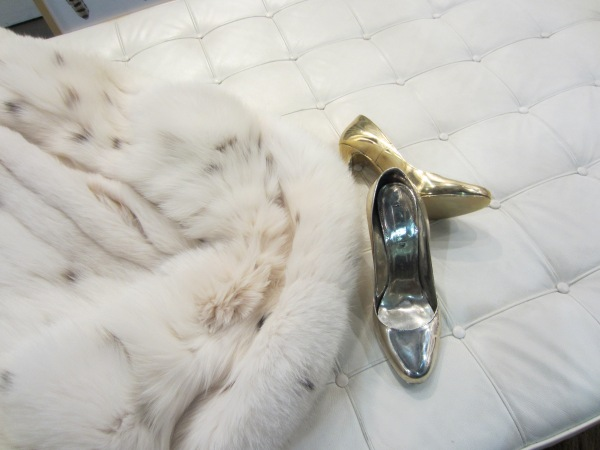 These Prada shoes were cast in 2.5 kilos of silver! What every girl wants!