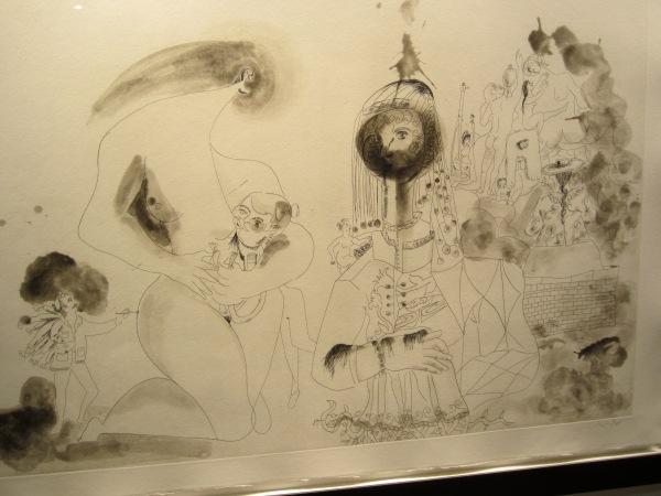 Condo's sketches of Spain for Miles Davis, 1991