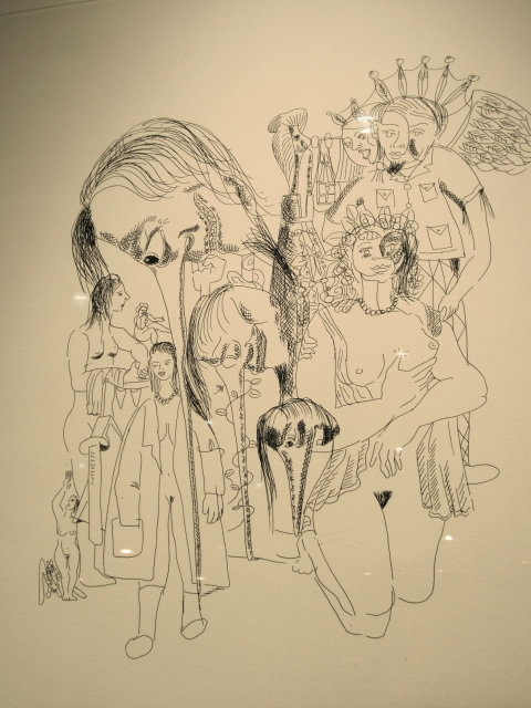 Amazing sketches by George Condo