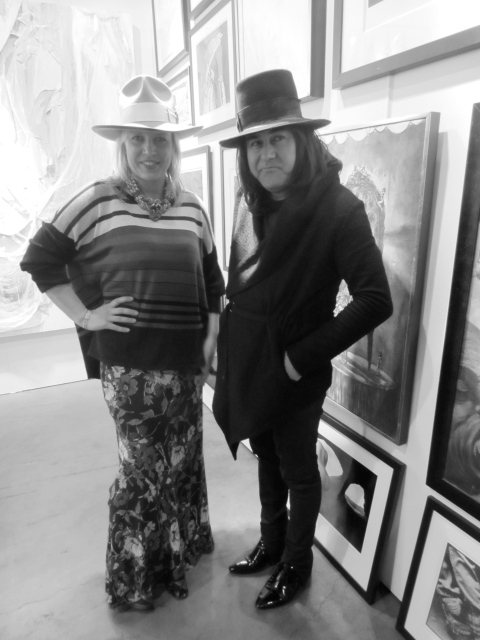 I'm wearing Corey Lynn Calter with Alex & Lee; Henry is in his own designs and we both have on our Westbrook Makers hats.  It was fun walking around together in our hats.