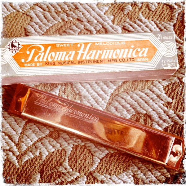 Pretty psyched about this Japanese vintage harmonica.  Now for the lessons...