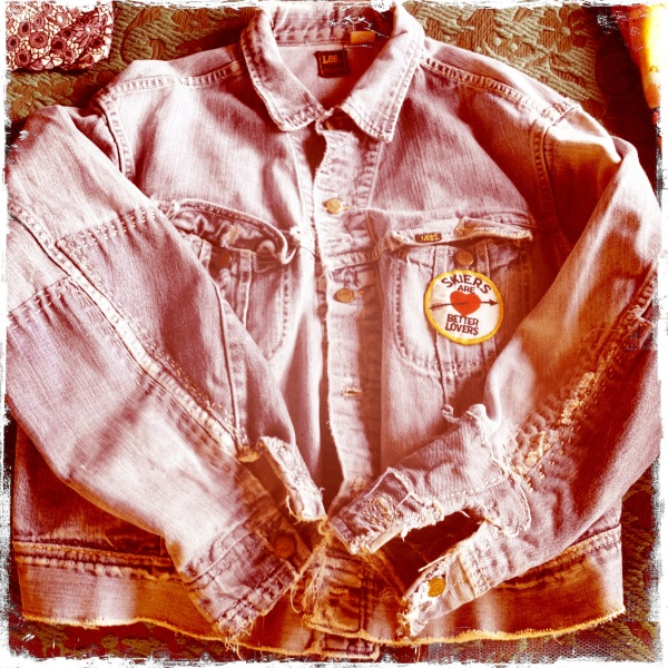 My favorite score of the day; a vintage patchworked Lee denim jacket with the perfect amount of wear and tear.  love.