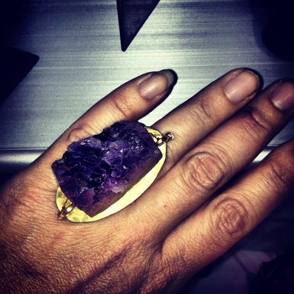 Amazing amethyst ring by Double Happiness out of San Diego.