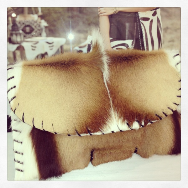 Spring bok clutch by Santa Barbara designer Emily Rosendahl.