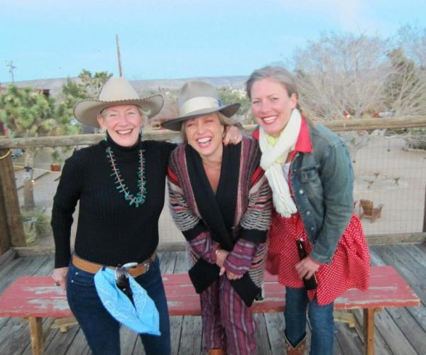 My mom, sister Susan and I having a great time