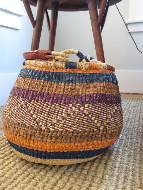 Love the palette of this woven basket