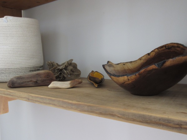 A shelf close up