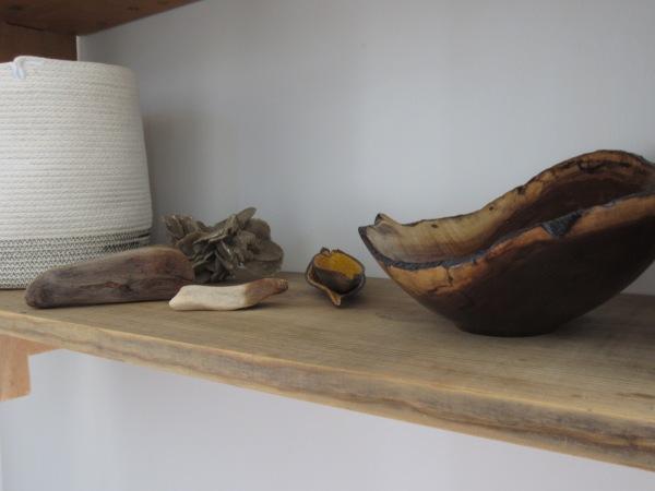 A shelf close up