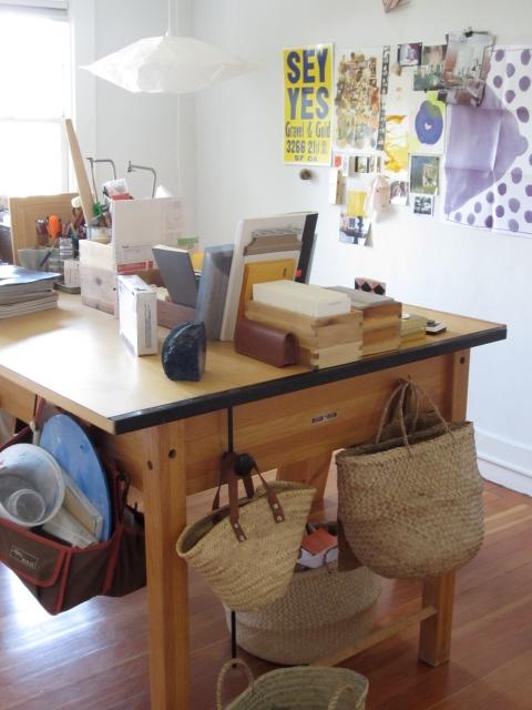 Kathleen's studio space