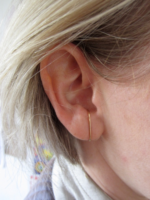 The large stitch earring
