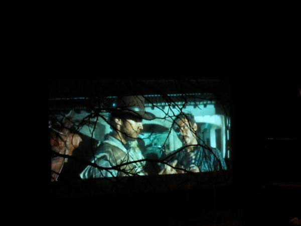 I played old spaghetti westerns for background visuals