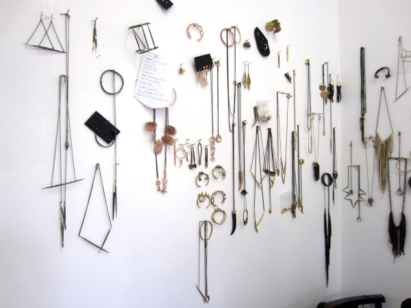 Wall of jewelry