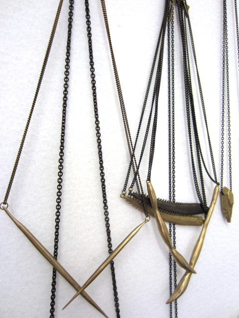 An assortment of necklaces