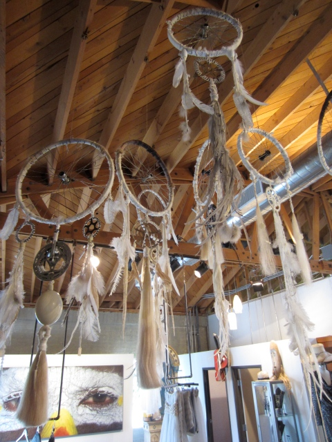 Collection of dreamcatchers at Church boutique