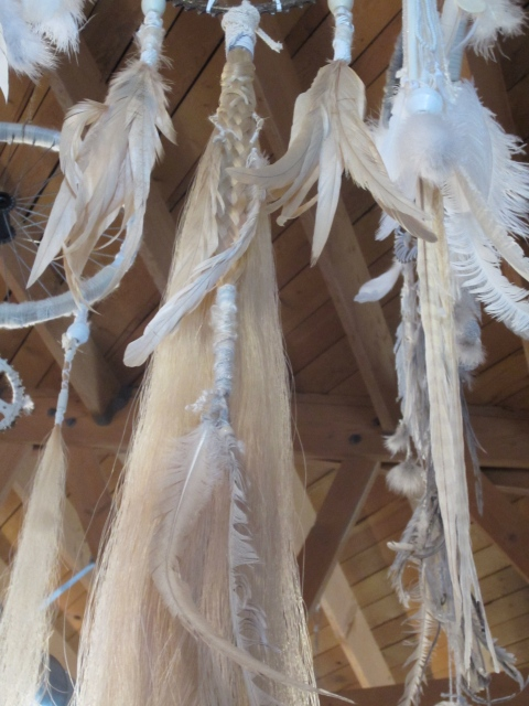 Horsehair and feathers