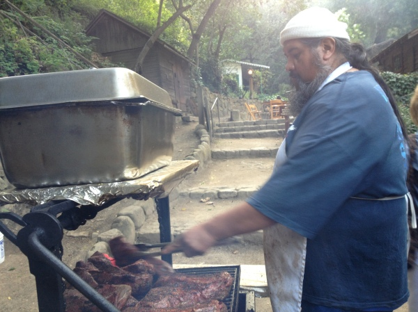 Big Tom is set up every sunday outside selling his delicious tri tip sandwiches