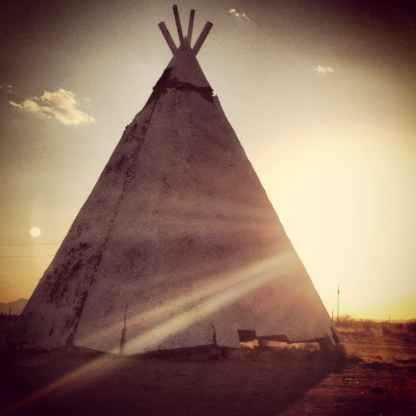 Teepee on the side of the road in New Mexico by @theschereport