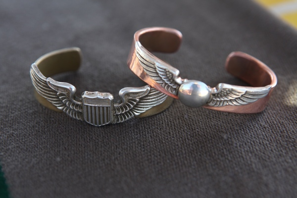 Paul's father's life in the military has a major influence on his designs.  This cuff is a favorite.