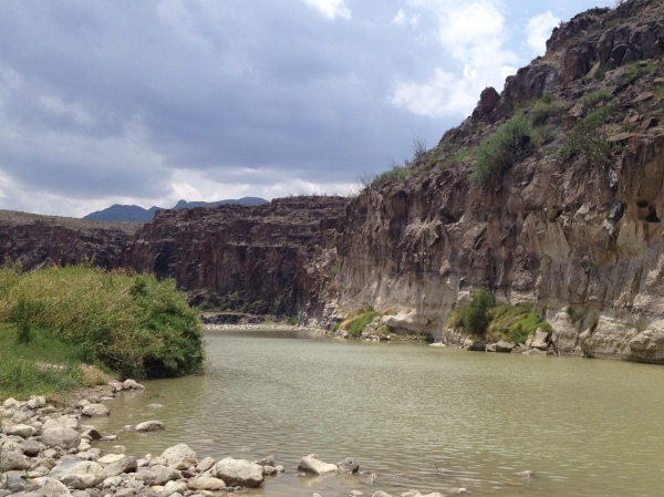 Our first dip in the Rio Grande