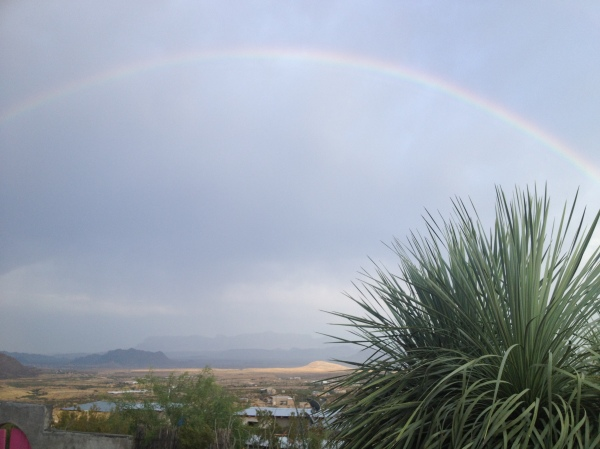 Greeted by a rainbow viewing at our spot