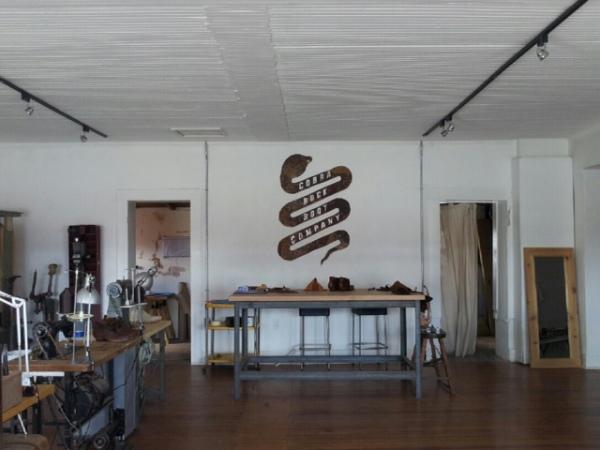 Handmade boots at Cobra Rock Boot Company