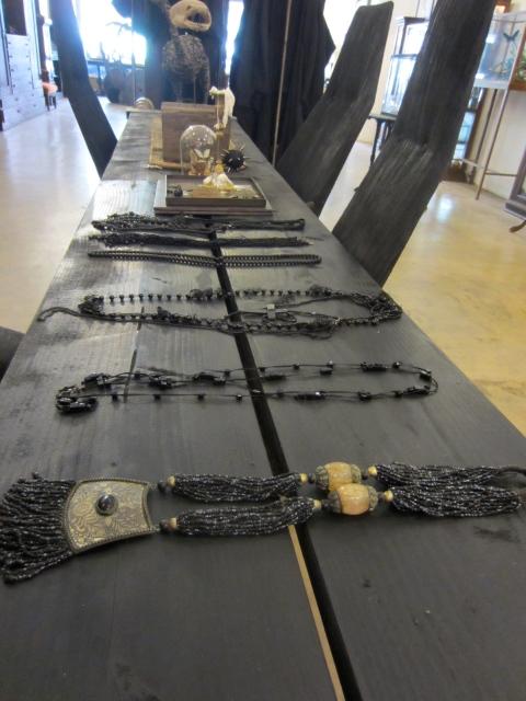 An assortment of jewelry he created thru the years