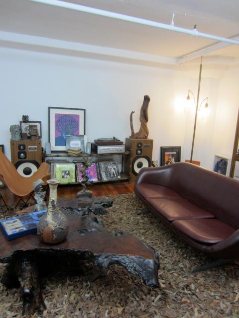 The upstairs studio lounge